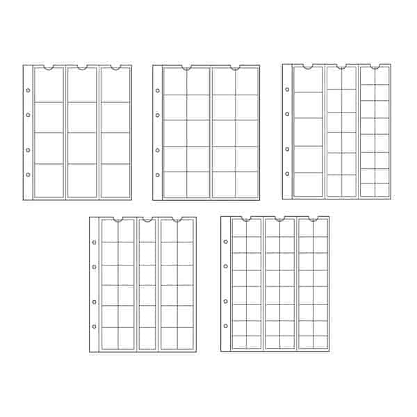 NUMIS Coin Sheets Assorted - 5 Different Pages
