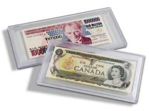 Clear snaplock currency holders for large notes