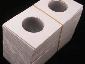 2x2 Cardboard Silver $1 Holders Pk.100