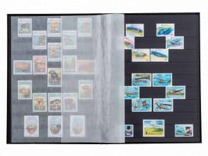 16 BLACK PAGES - HARD COVER / CLEAR STRIPS - RED
