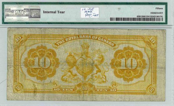 Royal Bank of Canada 1913 $10