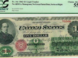 USA 1862 $1