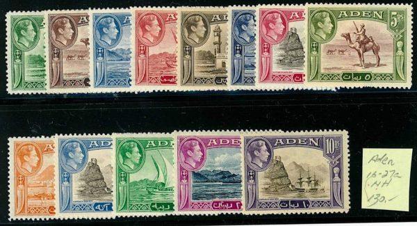 Aden 16-27a Mint NH