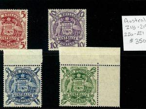 Australia 218-21 Mint H/NH