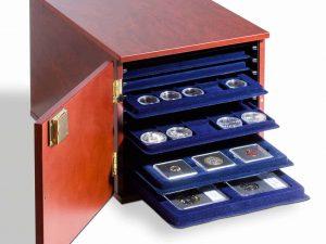Lighthouse Coin Box Chest Mahogany-coloured.