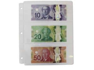 Paper Money Sheets - 10-Pk. Clear for Small & Large Notes