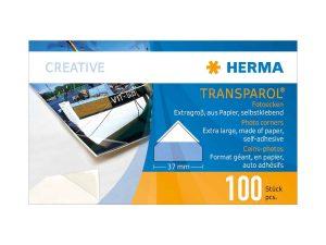 Herman Transparol Jumbo Corners - Box of 100