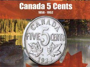 Vista Nature Canada 5 Cent 1858-1952 Volume 1