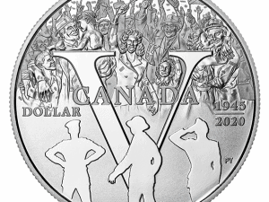 """2020 Proof Silver Dollar """"75th Anniv. of VE Day"""""""