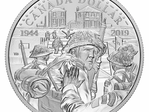 """2019 Proof Silver Dollar """"75th Anniv. of D-Day"""""""