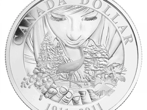 """2011 Proof Silver Dollar """"Canadian Parks 100th Anniversary"""""""