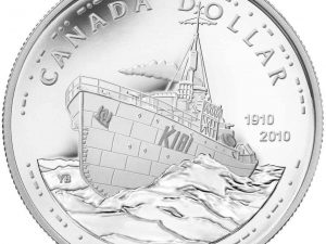 """2010 Proof Silver Dollar """"100th Anniversary of the Canadian Navy"""""""