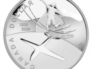 """2009 Proof Silver Dollar """"100th Anniversary of Flight in Canada"""""""
