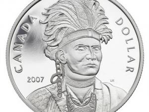 """2007 Proof Silver Dollar """"Thayendanegea"""""""
